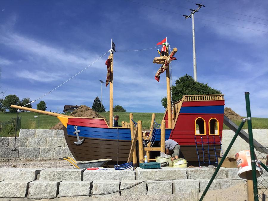 Schon Mal im Vorfeld auf Entdeckungstour im Piratenschiff